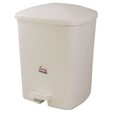Picture of 15lt LUCY PEDAL BIN - WHITE