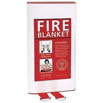 FIRE BLANKET - QUICK RELEASE WALL MOUNTING