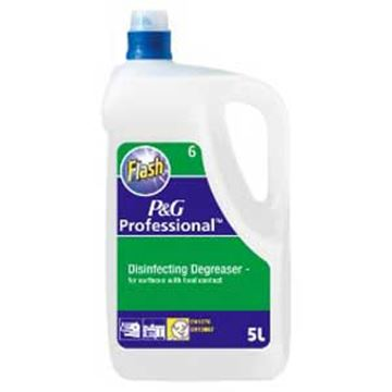 Picture of 2x5lt D6 FLASH DISINFECTING DEGREASER P&G PROFESSIONAL RANGE