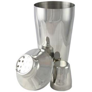 3 PIECE COCTAIL SHAKER 30oz - STAINLESS STEEL