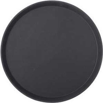 """Picture of 35cm NON SLIP ROUND TRAY - 14"""" BLACK"""