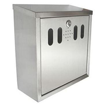 ECONOMY SQUARE WALL MOUNTED CIGARETTE BIN