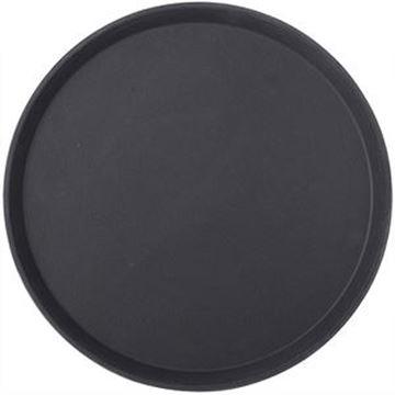 "ROUND ANTI-SLIP TRAY - 16"" BLACK"
