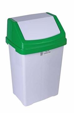 SWING BIN with GREEN LID