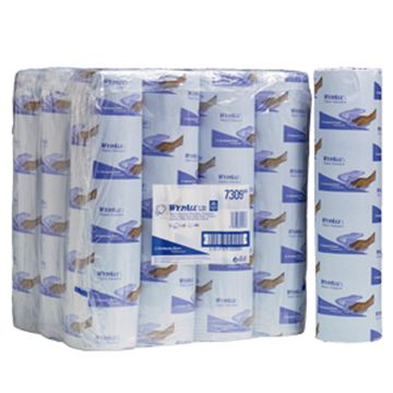 "Picture of 7309 WYPALL L30 2ply 20"" WIPER ROLLS BLUE