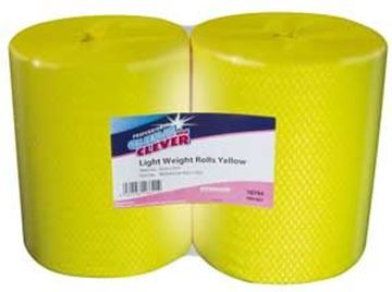 Clean and Clever LIGHTWEIGHT Yellow Centrefeed Roll
