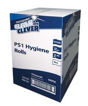 Picture of Clean and Clever PS1 Blue 2Ply Hygiene Roll