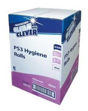 Clean and Clever PS3 White 2ply Hygiene Roll