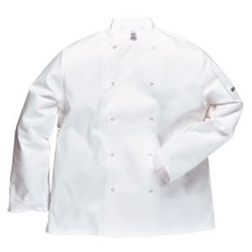 C833 CHEF'S JACKET WITH STUD FRONT