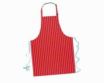 """Cotton Butchers Apron 28x42"""" - Red Stripe"""