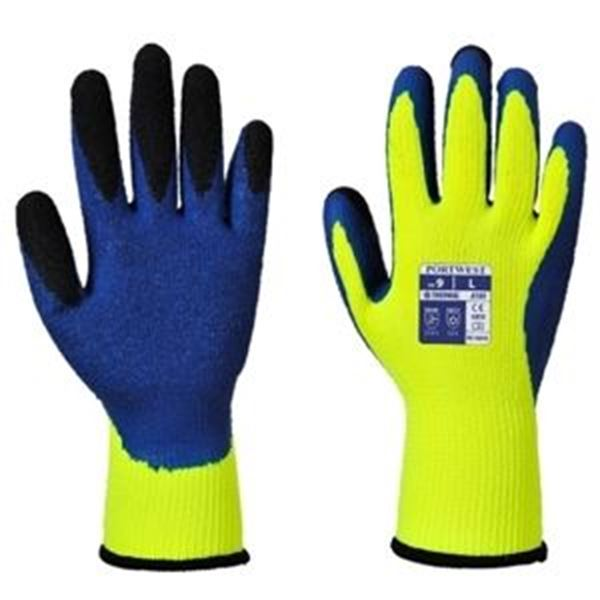 DUO THERM GLOVE LARGE - YELLOW/BLUE