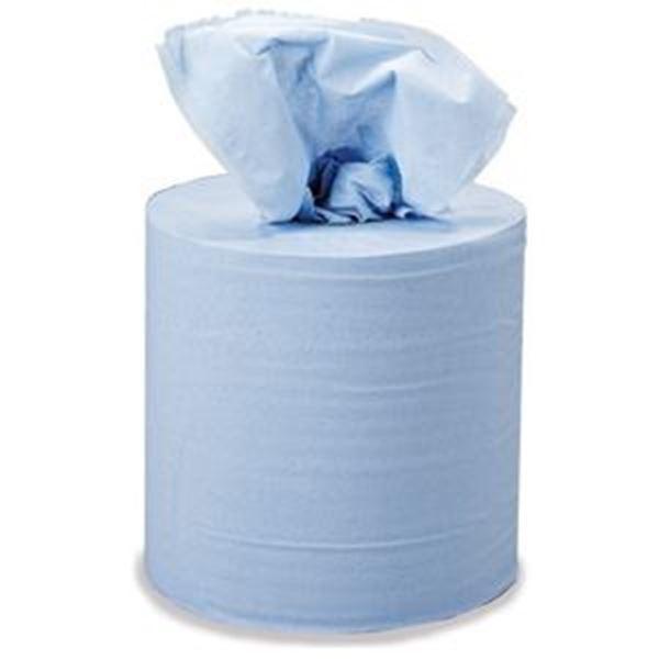 blue centrefeed roll, centrefeed roll, centrefeed blue roll