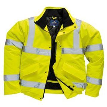 EN471 Hi-Vis Bomber Jacket Yellow