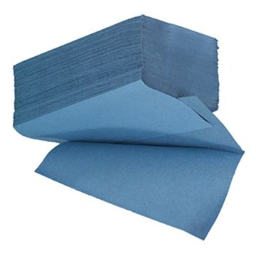 Picture of ESSENTIALS 1ply BLUE IFOLD TOWEL x3600100% RECYCLED50077