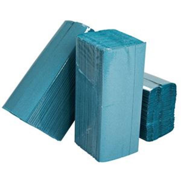 ESSENTIALS 1ply CFOLD BLUE TOWEL