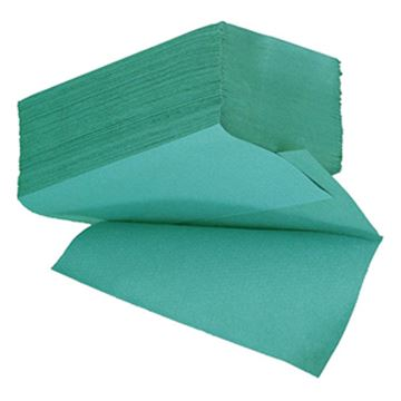 Picture of ESSENTIALS 1ply GREEN IFOLD TOWEL x3600100% RECYCLED51431