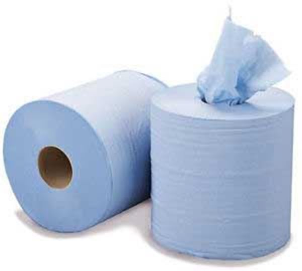 ESSENTIALS 2ply Embossed Centrafeed BLUE