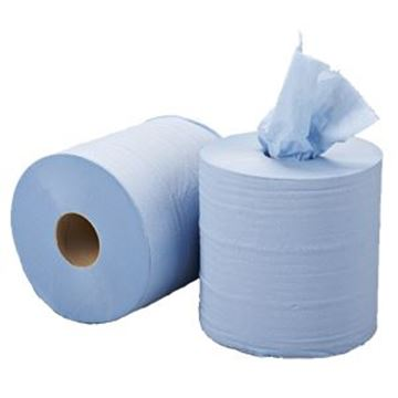 blue roll, embossed centrefeed blue roll, centrefeed roll