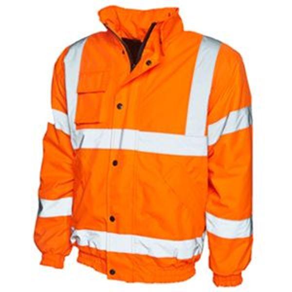 Hi Vis Bomber Jacket Orange Larg