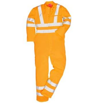 HI VIS POLYCOTTON COVERALL - GO/RT