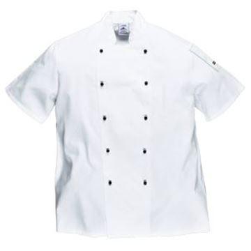 Kent Short Sleeve Chefs Jacket - White