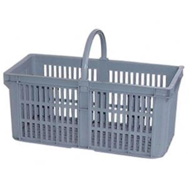 LARGE GLASS COLLECTING BASKET - GREY