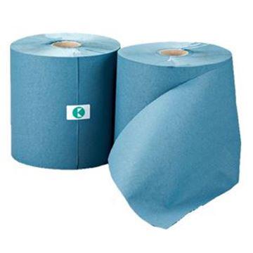 LEONARDO 1ply BLUE TOWEL ROLL