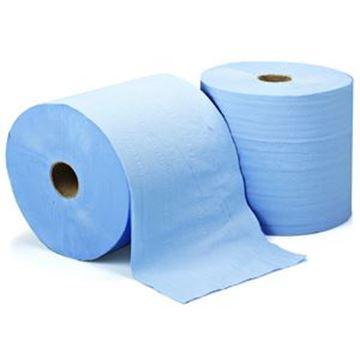 LEONARDO 2ply EMB BLUE TOWEL ROLL