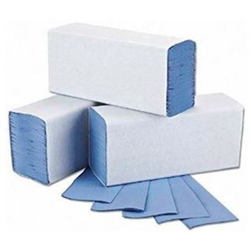 Picture of ESSENTIALS BLUE 1ply ZFOLD x3000 100% RECYCLED