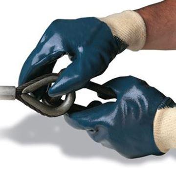 NITRON H/DUTY KNIT WRIST GLOVE - BLUE SIZE 9