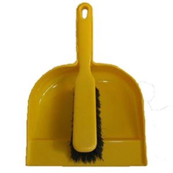 Plastic Dustpan & Brush - Soft Yellow