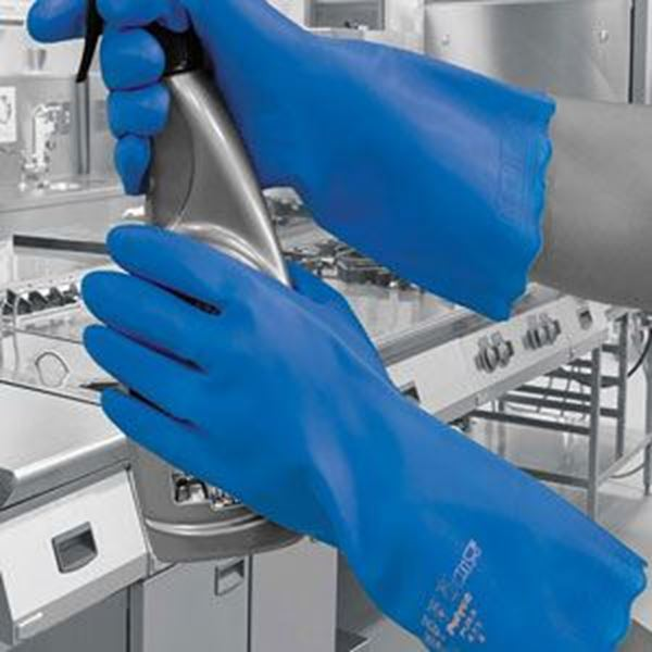 Pura Mediumweight PVC Glove - Blue