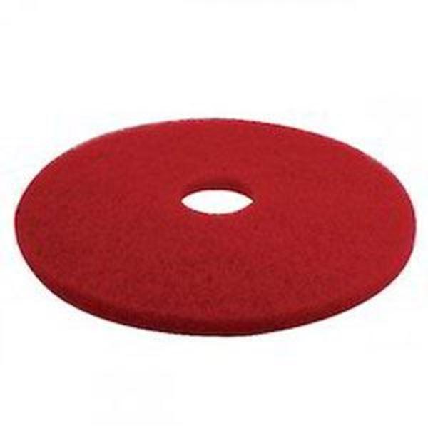 """RED 17"""" 3M PLUS FLOOR PAD"""