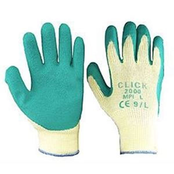RUBBER COATED GLOVE GREEN XLARGE Size 10