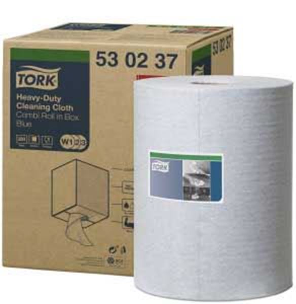 TORK H/DUTY CLEANING CLOTH BLUE ROLL