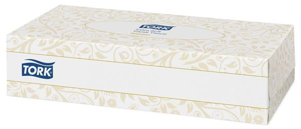 TORK XTRA SOFT 2ply FACIAL TISSUES 30x100s F1