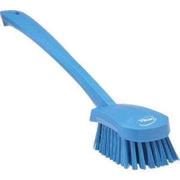 VIKAN LONG HANDLE STIFF WASHING BRUSH - BLUE