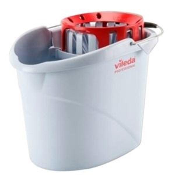 VILEDA SUPERMOP BUCKET & WRINGER RED