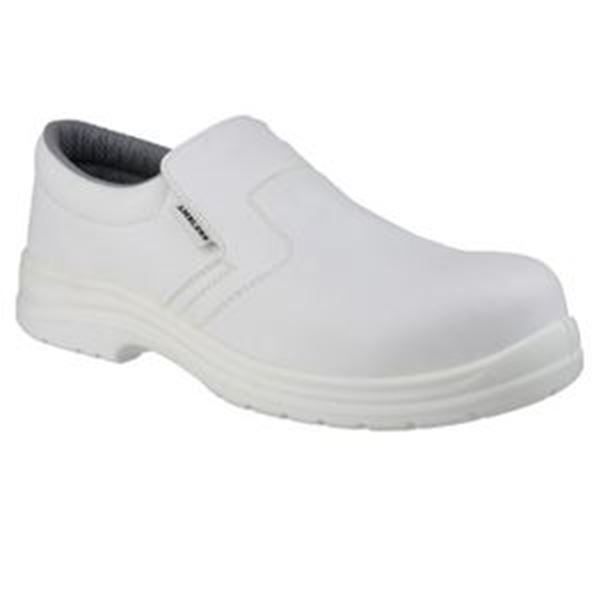 WHITE HYGIENE SAFETY SLIP ON SHOES - SIZE 4
