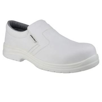 WHITE HYGIENE SAFETY SLIP ON SHOES - SIZE 5
