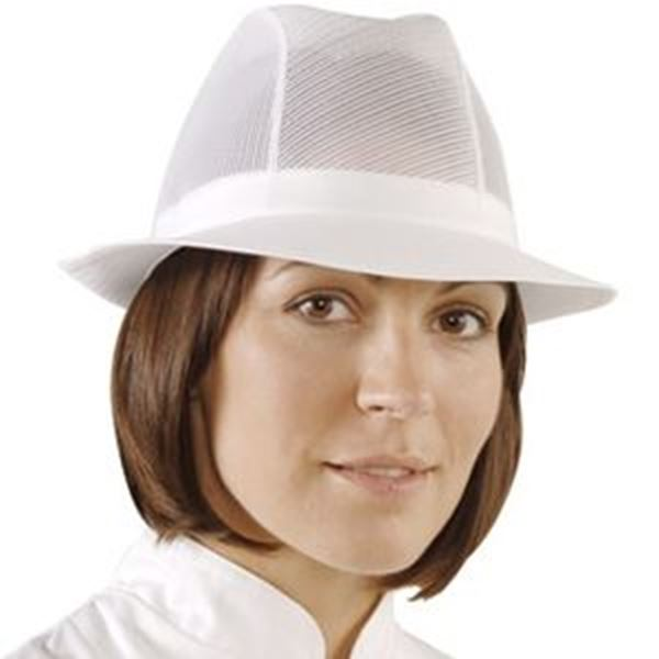 WHITE UNISEX TRILBY - SMALL