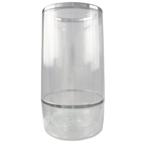 WINE COOLER / TWO PIECE ACRYLIC - CLEAR