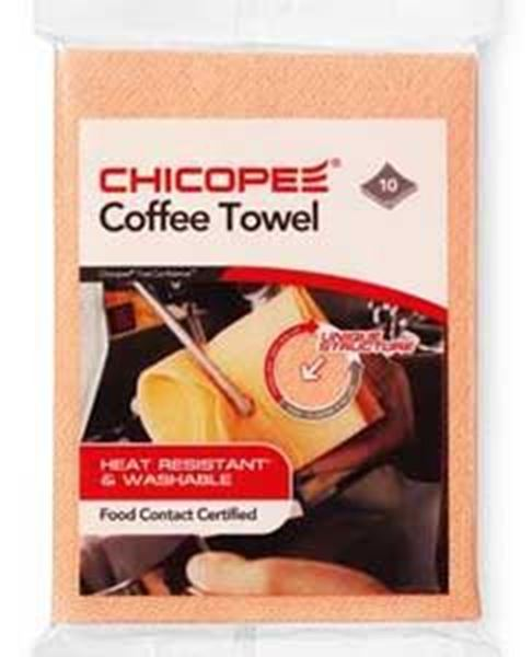 Picture of x10 CHICOPPE COFFEE TOWEL - ORANGE