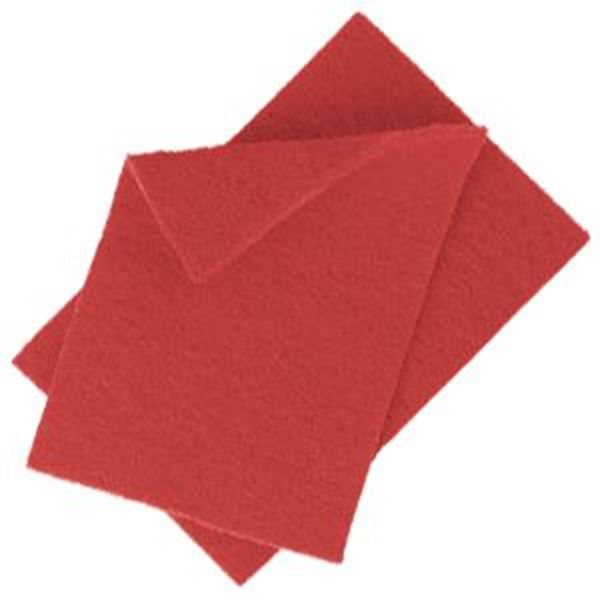 SCOURING PADS 22x15cm - RED