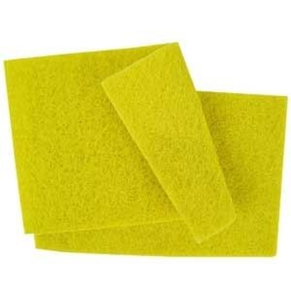 SCOURING PADS 22x15cm -YELLOW