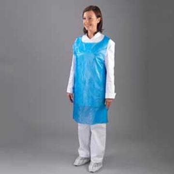 "DISPOSABLE APRONS 27x42""- BLUEFLAT PACK"