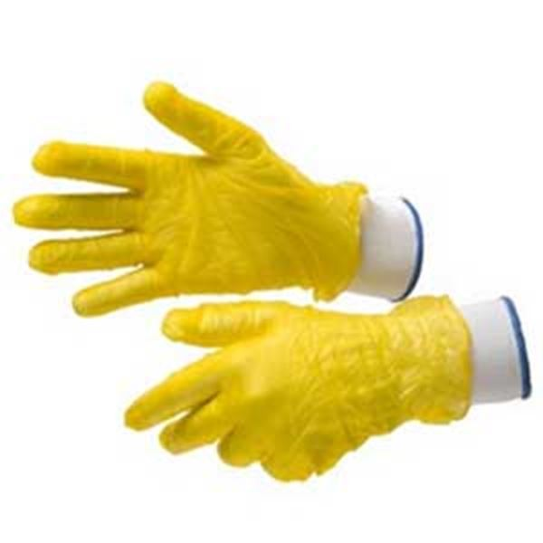 Picture of x100 VINYL GLOVE YELLOW - SMALL