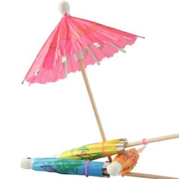 PAPER PARASOL STICKS - ASTD COLOURS