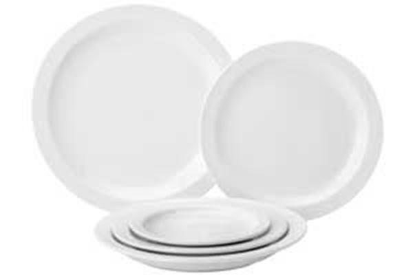 PURE WHITE PLATE - NARROW RIM