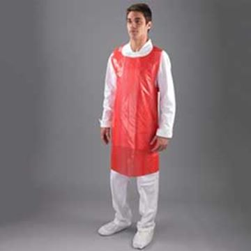 "ROLL DISPOSABLE APRON 27x42"" - RED"